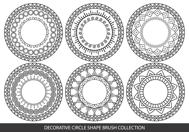 Decorative Circle Shape Brushes Photoshop brush