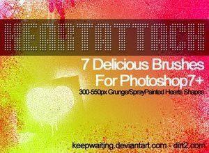 Heart Attack Photoshop brush