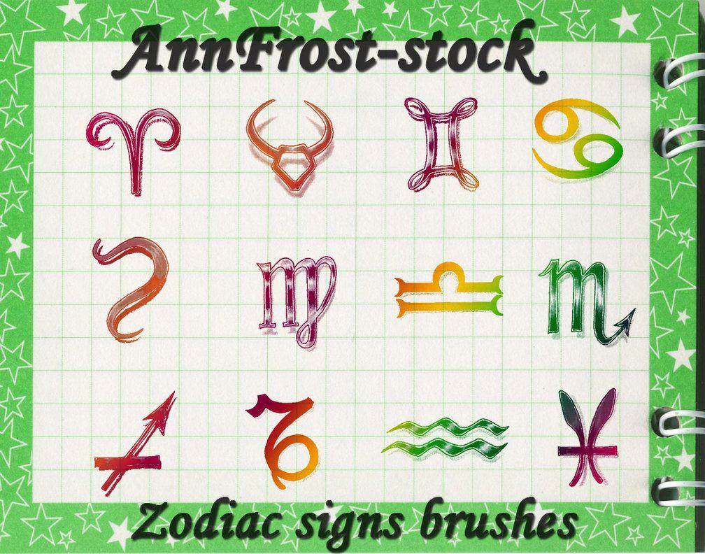 Zodiac signs brushes Photoshop brush