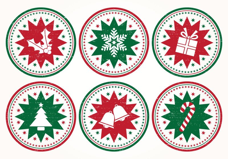 Christmas Stamp Brushes Photoshop brush