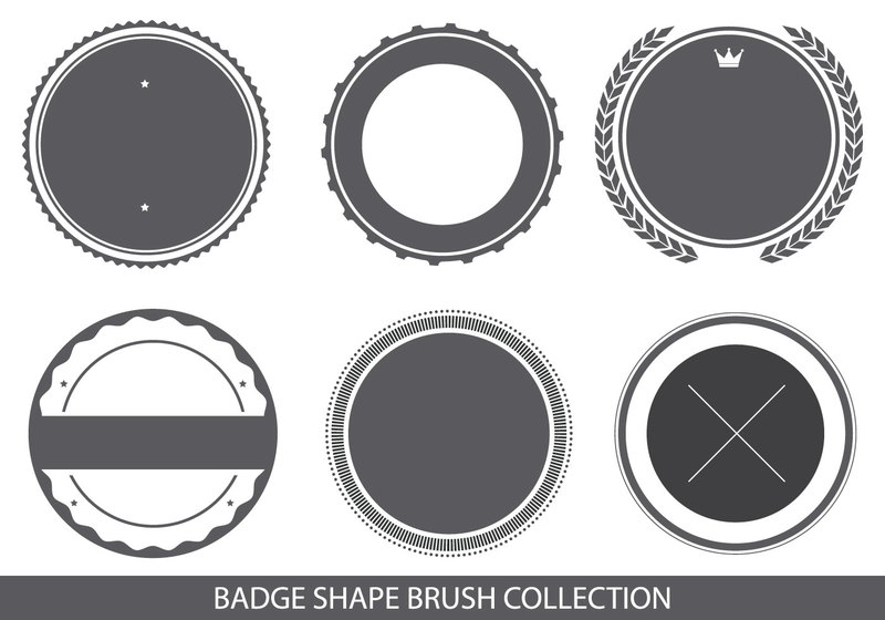 Badge Shapes Brush Collection Photoshop brush