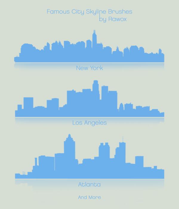 Famous City Skylines Photoshop brush