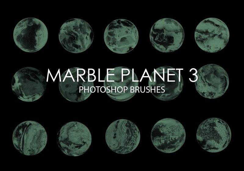 Free Marble Planet Photoshop Brushes 3 Photoshop brush