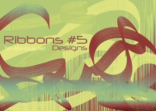 Ribbons 5  Photoshop brush