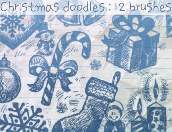 Christmas Brush Doodles Photoshop brush