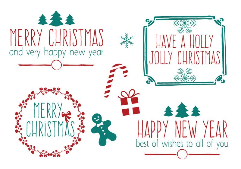 Hand Drawn Style Christmas Brush Set Photoshop brush