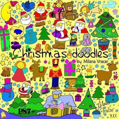Christmas Brush Doodles Pack by MV Photoshop brush