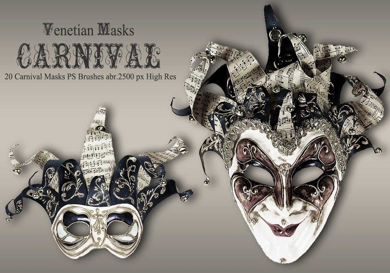20 Carnival Masks PS Brushes abr.vol.6 Photoshop brush