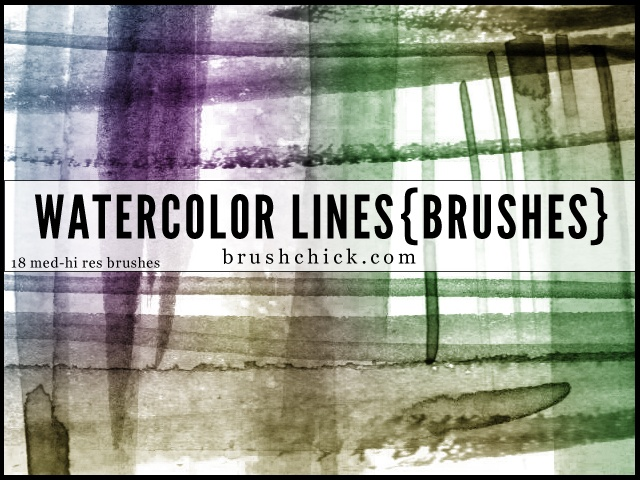 Watercolor Lines Photoshop brush