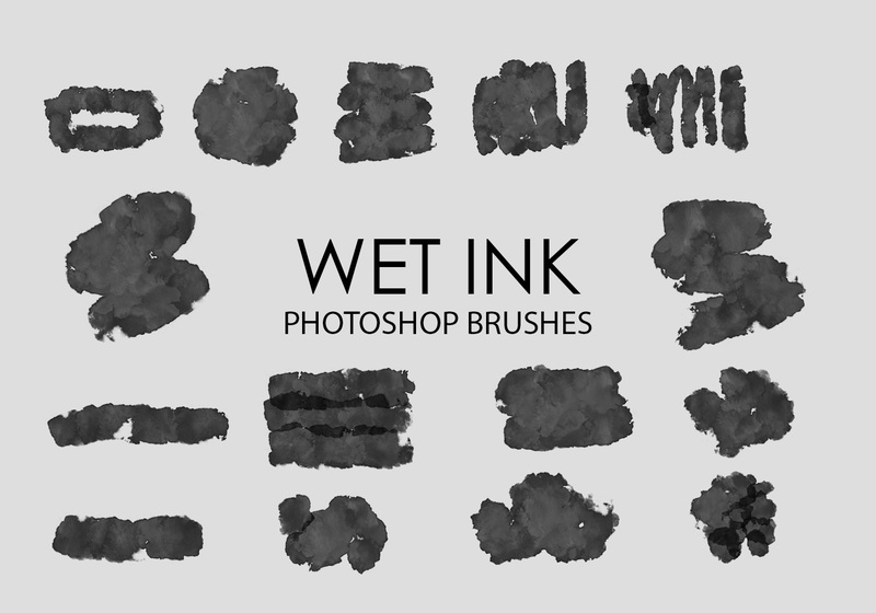 Free Wet Ink Photoshop Brushes 4 Photoshop brush