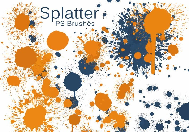 20 Color Splatter PS Brushes abr vol.7 Photoshop brush