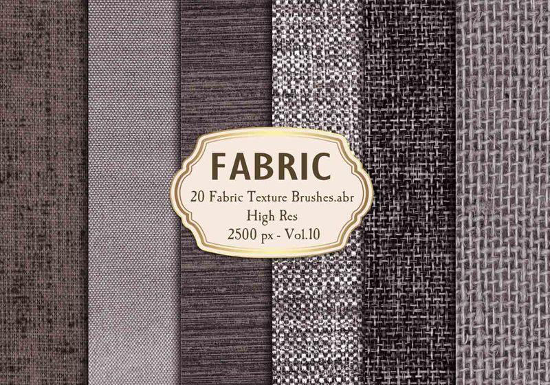 20 Fabric Texture Brushes Vol.10 Photoshop brush