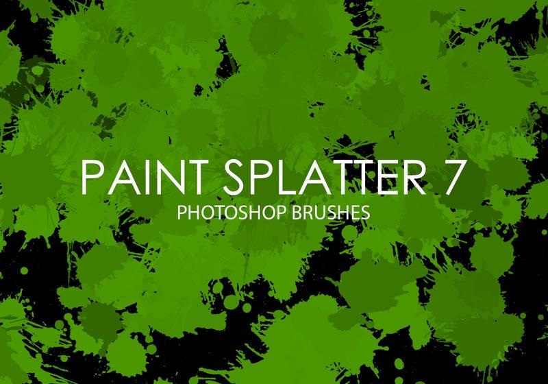 Free Paint Splatter Photoshop Brushes 7 Photoshop brush