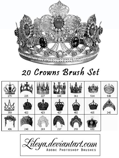 Crowns Brush Set Photoshop brush