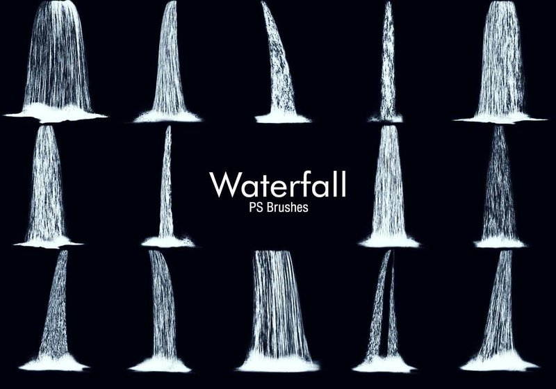 20 Waterfall PS Brushes abr. Vol.4 Photoshop brush