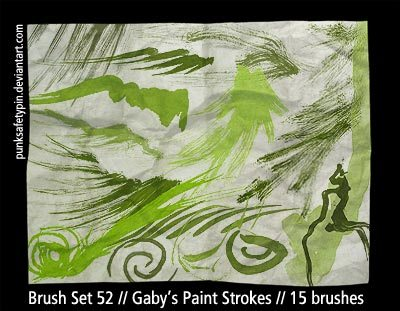 Gaby's Paint Strokes Photoshop brush