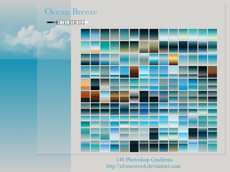 Ocean Breeze Ps Gradients Photoshop brush