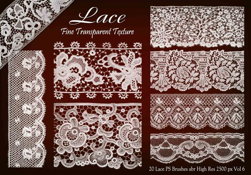 20 Lace PS Brushes abr vol 6 Photoshop brush