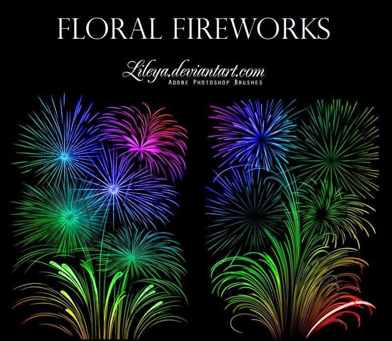 Floral Fireworks Photoshop brush