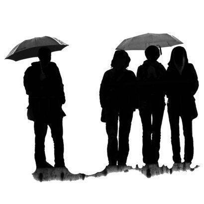 People With Umbrellas Brushes Photoshop brush