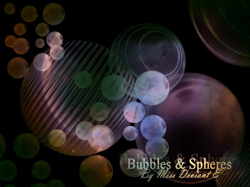 Bubbles spheres Photoshop brush