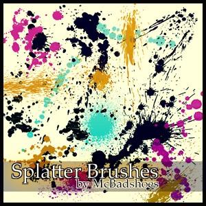 Splatter 6 Photoshop brush