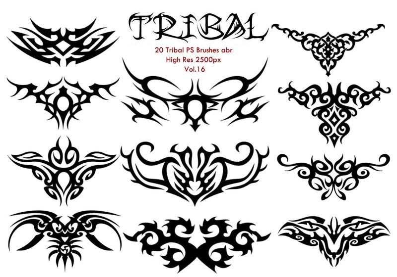 20 Tribal PS Brushes vol.16 Photoshop brush