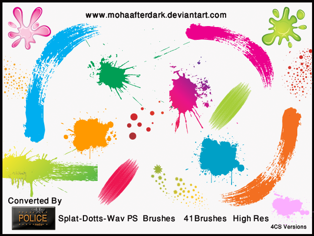 Splat-Dotts-Wav Photoshop brush