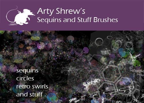 Arty Shrew's Sequins Brushes Photoshop brush