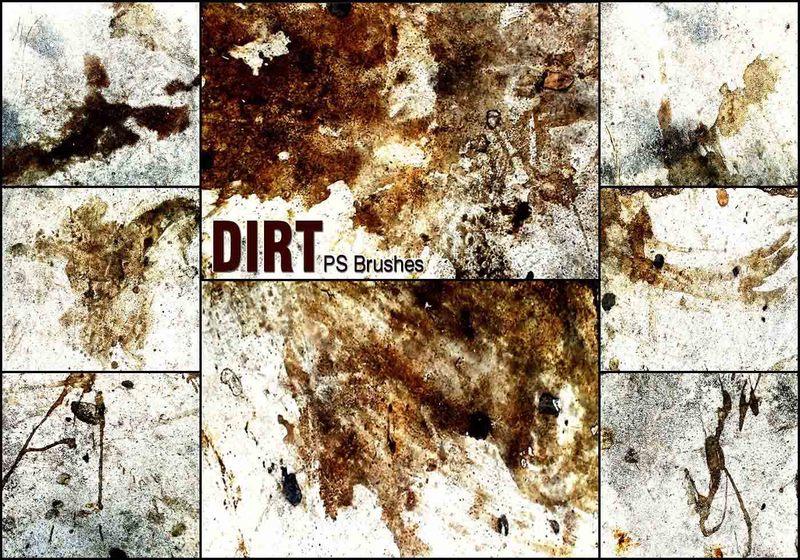 20 Dirt PS Brushes abr vol.9 Photoshop brush