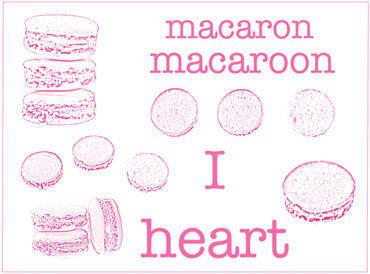 I Heart Macaroons Photoshop brush