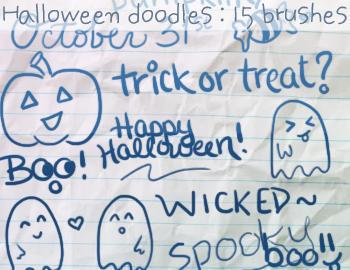 Halloween Doodles Photoshop brush