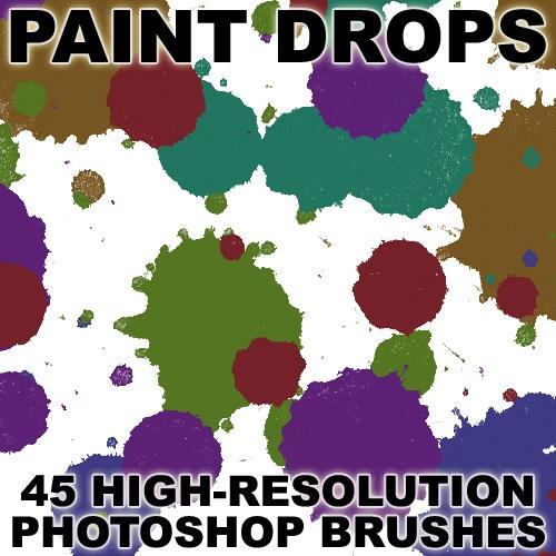 Paint Drops Photoshop brush