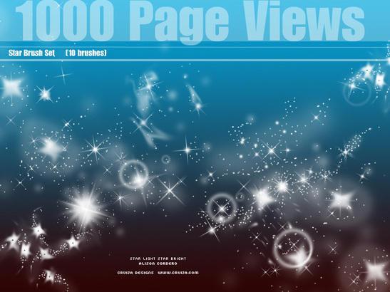 1000 Stars Photoshop brush