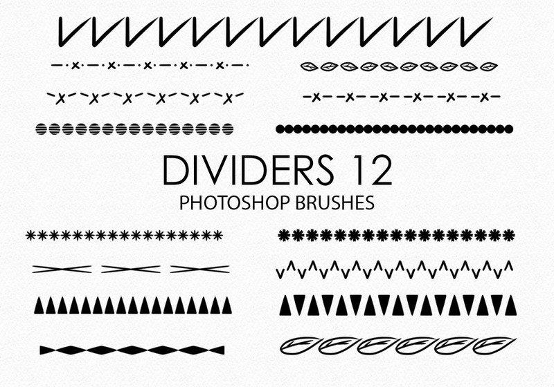Free Hand Drawn Dividers Photoshop Brushes 12 Photoshop brush