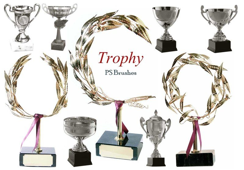 20 Trophy PS Brushes abr. vol.4 Photoshop brush