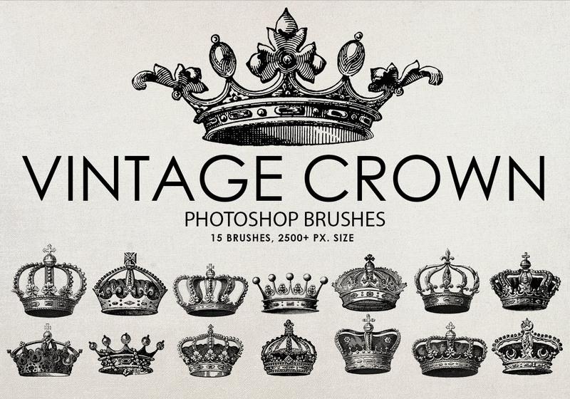 Free Vintage Crown Photoshop Brushes Photoshop brush
