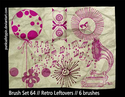 Retro Ornaments Photoshop brush