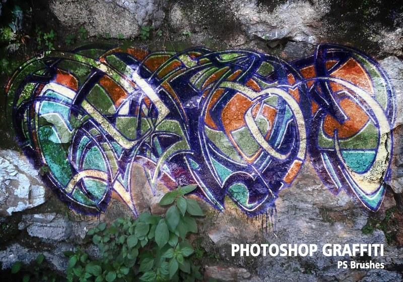 20 Graffiti PS Brushes abr. Vol.5 Photoshop brush