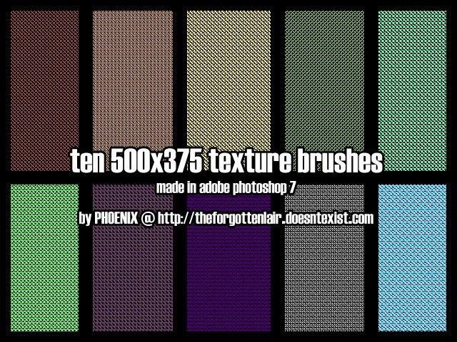 10 Texture + Pattern Brush Photoshop brush