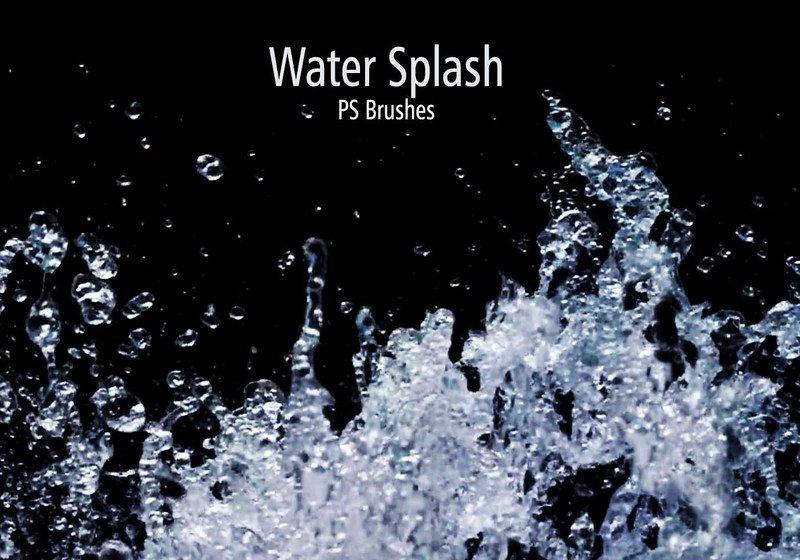 20 Water Splash Brushes.abr Vol.1 Photoshop brush
