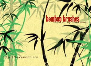 Bamboo Brushes by hawksmont Photoshop brush