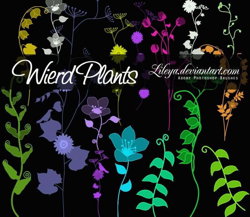 Weird Plants Photoshop brush