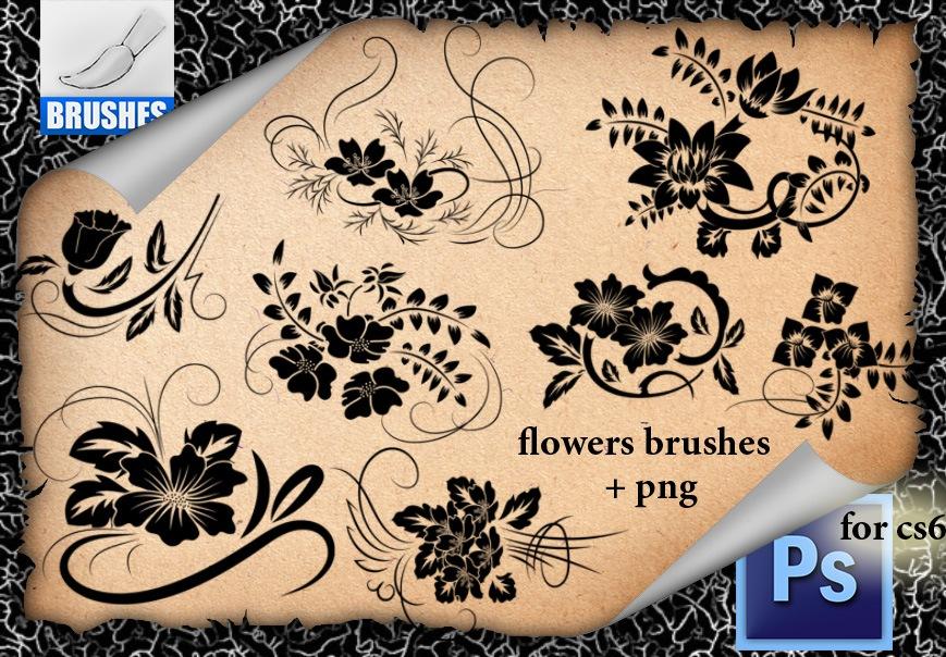 Ornamental Flowers Brushes Photoshop brush