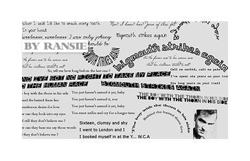 The Smiths Lyrics Photoshop brush