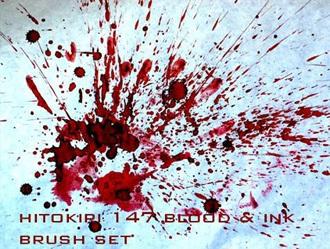 Blood Brushset Photoshop brush