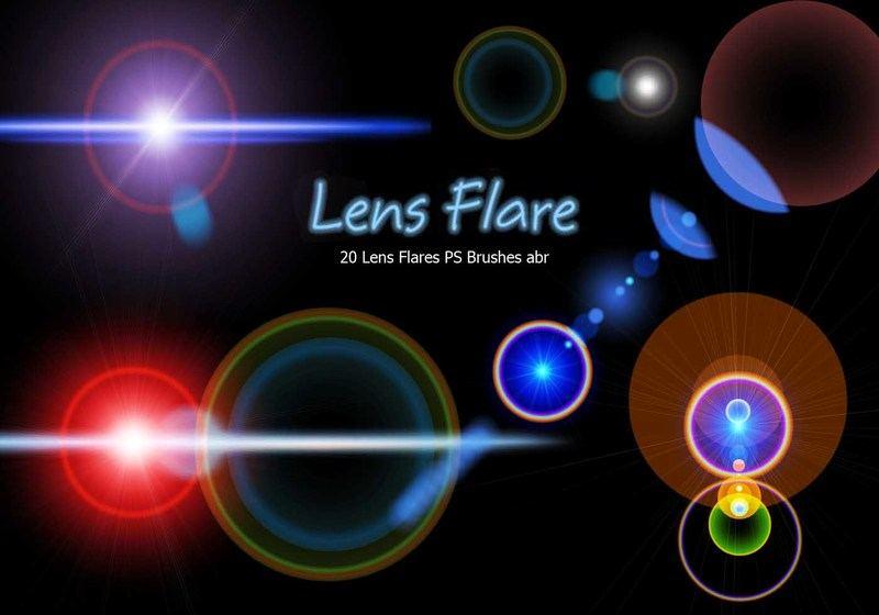 20 Lens Flares PS Brushes abr vol.10 Photoshop brush