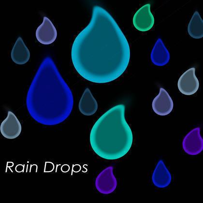 Raindrops Brushes of Colour Photoshop brush