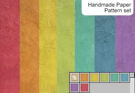 Handmade Paper Pattern Photoshop brush