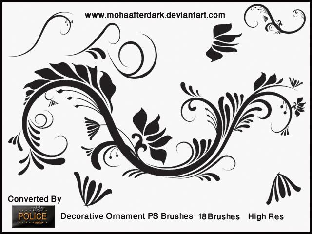 Decorative Ornament Photoshop brush